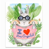 Los Angeles Bunny Greeting Card