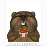 Beaver Birthday Greeting Card
