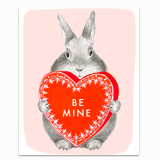Be Mine Bunny Greeting Card