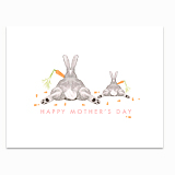 Mom and Baby Bunny Greeting Card