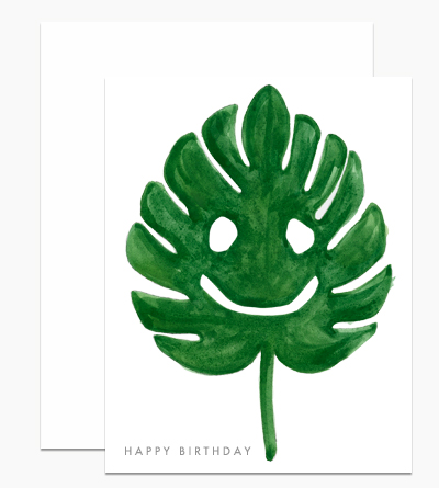 Monstera Leaf Birthday