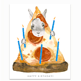 Pizza Bunny Greeting Card
