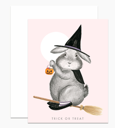 Bunny Witch on Magical Broom