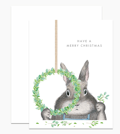Bunny Making a Wreath
