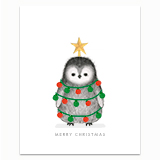Decorated Penguin Greeting Card