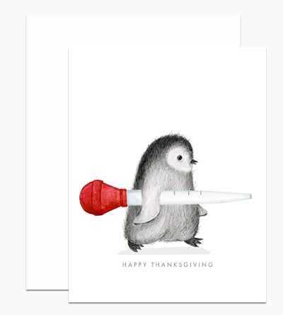 Penguin with Turkey Baster