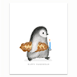Hanukkah Penguin Greeting Card