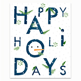 Holiday Letters with Snow Greeting Card