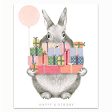 Bunny with Gifts Greeting Card