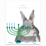 Menorah Bunny Greeting Card