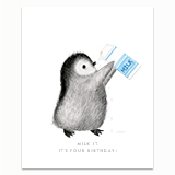 Milk it Penguin Greeting Card