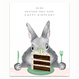 Another Grey Hare Greeting Card