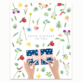 Wrapping Present Greeting Card