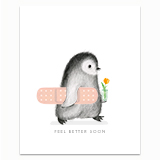Feel Better Penguin Greeting Card