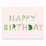 Cactus and Succulent Letters Greeting Card