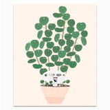 Spaceship House Plant Greeting Card