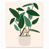 A-Frame House Plant Greeting Card