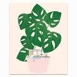 Modern House Plant Greeting Card