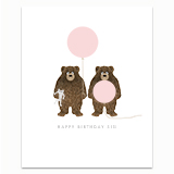Sister Bears Greeting Card
