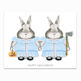 Shining Bunnies Greeting Card