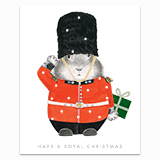 Royal Christmas Bunny Greeting Card