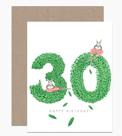 Happy Birthday Topiary 30