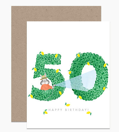 Happy Birthday Topiary 50