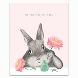 Thinking of You Bunny Greeting Card