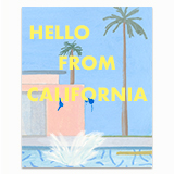 Hello From California Greeting Card