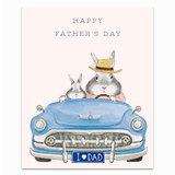 Dad Bunny Convertible Greeting Card