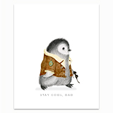 Cool Dad Penguin Greeting Card