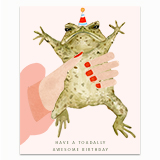 Toadally Awesome Birthday Greeting Card
