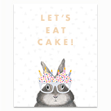 Let's Eat Cake Greeting Card