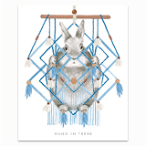 Hang in There Macrame Greeting Card