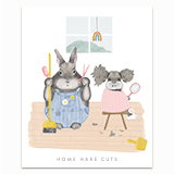 Home HareCuts Greeting Card