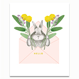 Bunny Envelope Greeting Card