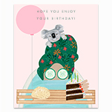 Birthday Bath Greeting Card