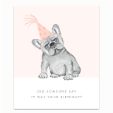 Frenchie Birthday Greeting Card