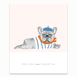 Essential Frenchie Greeting Card