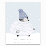Marshmallow World Penguin Greeting Card