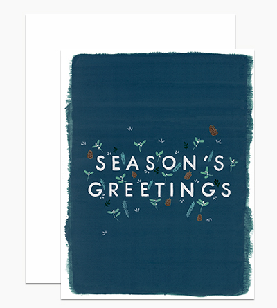 Season's Greetings Painted Edge