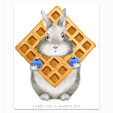 A Waffle Lot Greeting Card