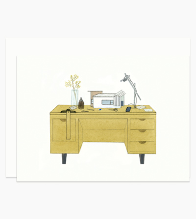 Desk With a Dream Home Model