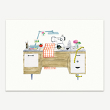 Desk With Craft Projects Stationery