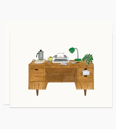 Desk With Typewriter