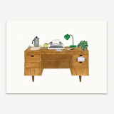 Desk With Typewriter Stationery