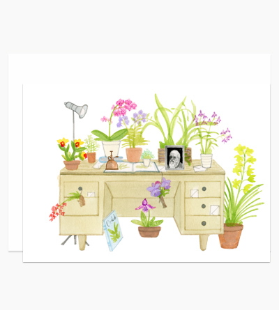 The Orchid Lover's Desk
