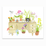 The Orchid Lover's Desk Stationery
