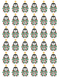 Decorated Penguin Wrapping Paper